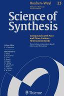 Science of Synthesis: Houben-Weyl Methods of Molecular Transformations Vol. 23