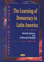 The Learning of Democracy in Latin America PDF