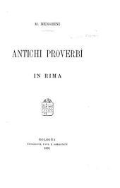 Antichi proverbi in rima