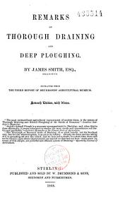 Remarks on Thorough Draining and Deep Ploughing