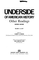 The Underside of American History: To 1877