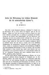 Ueber die Bedeutung des irischen Elements für die mittelalterliche Cultur (ein Vortrag. Preuss. Jahrbücher).