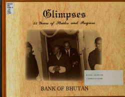 Glimpses  25 Years of Strides and Progress  Bank of Bhutan PDF