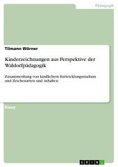 Kinderzeichnungen aus Perspektive der Waldorfpädagogik: Zusammenhang von kindlichem Entwicklungsstadium und Zeichenarten und -inhalten