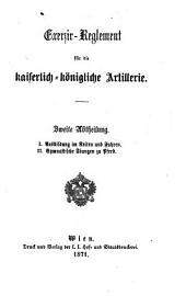 I. Ausbildung im Reiten und Fahren. - II. Gymnastische Übungen zu Pferd: 2