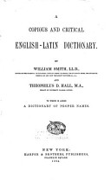 A Copious and Critical English Latin Dictionary PDF