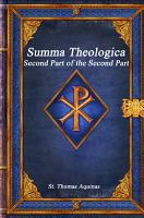 Summa Theologica  Second Part of the Second Part PDF