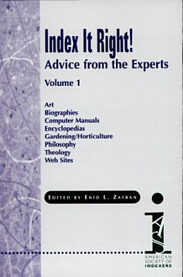 Index it Right   Art   Biographies   Computer manuals   Encyclopedias   Gardening PDF