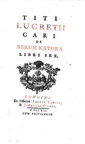 De rerum natura libri VI. (edid. Michael Maittaire).