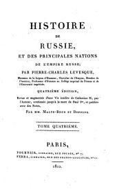 Histoire de Russie: et des principales nations de l'Empire Russe, Volume4