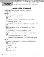 Freckle Juice Comprehension Assessment