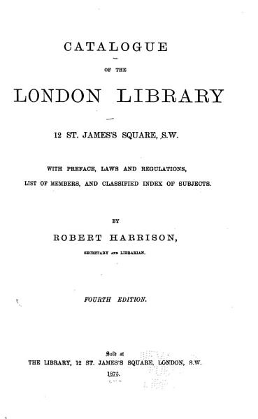 Catalogue of the London Library