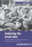 Enduring the Great War PDF
