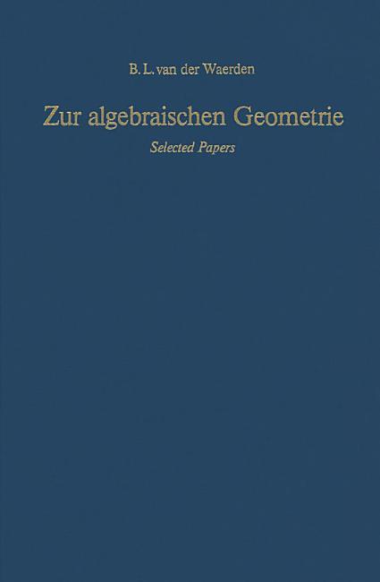 Zur algebraischen Geometrie PDF