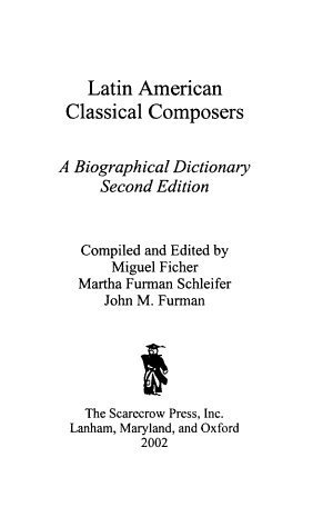 Latin American Classical Composers PDF