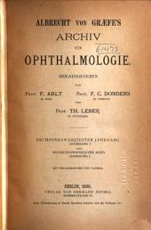 Albrecht von Graefes Archiv für Ophthalmologie: Band 26