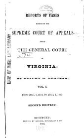 Cases Decided in the Supreme Court of Appeals of Virginia: Volume 42