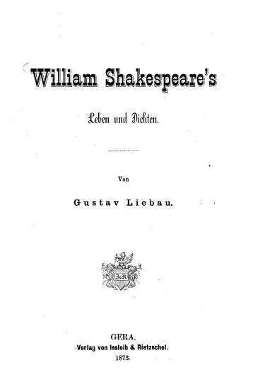 William Shakespeare s Leben und Dichten PDF