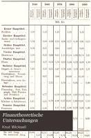 Finanztheoretische Untersuchungen PDF