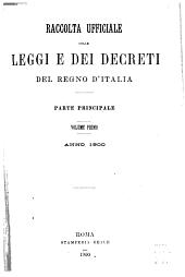 Raccolta ufficiale delle leggi e dei decreti del Regno d'Italia: Parte 1