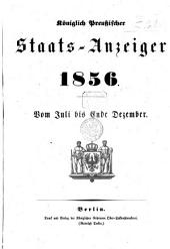 Königlich Preußischer Staats-Anzeiger: 1856, 7 - 12