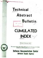 Technical Abstract Bulletin PDF