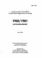 Annual Activity Report   National Uranium Resource Evaluation PDF