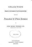 Selection Adapted to the Seasons of the Ecclesiastical Year from the Parochial   Plain Sermons PDF