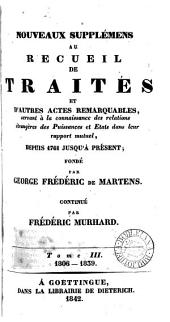 Nouveaux supplémens au recueil de traités ... dupuis 1761 jusqua présent: Volume31