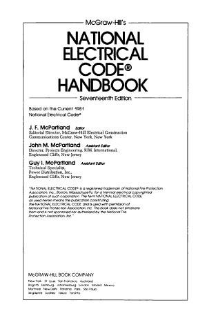 McGraw Hill s National Electrical Code Handbook PDF