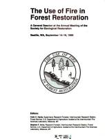 The Use of Fire in Forest Restoration PDF
