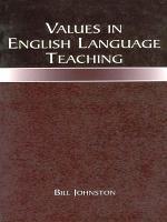 Values in English Language Teaching PDF
