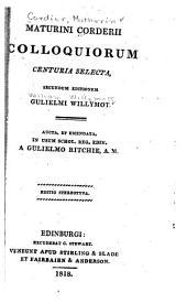 Maturini Corderii Colloquiorum centuria selecta