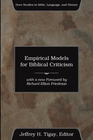 Empirical Models for Biblical Criticism