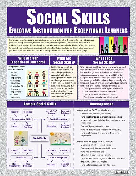 Social Skills: Effective Instruction for Exceptional Learners
