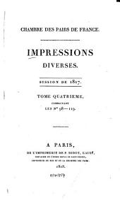 Impressions diverses: session ... 1817,4 (1818)