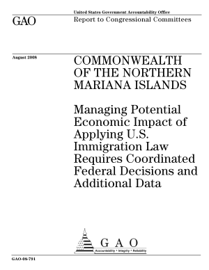 Commonwealth of the Northern Mariana Islands: Managing Potential Economic Impact of Applying U.S. Immigration Law Requires Coordinated Federal Decisions and Additional Data