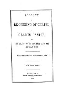 Account of re opening of chapel at Glamis castle  signed W G S     With  Order of service PDF