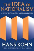 The Idea Of Nationalism PDF