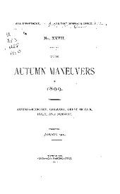 The Autumn Maneuvers of 1898: Austria-Hungary, France, Germany, Great Britain, Russia, and Switzerland, August 1899