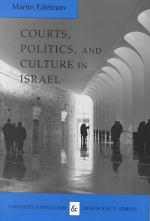 Courts, Politics, and Culture in Israel