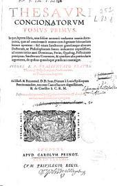 Thesauri concionatorum tomus primus ...