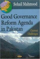 Good Governance Reform Agenda in Pakistan PDF