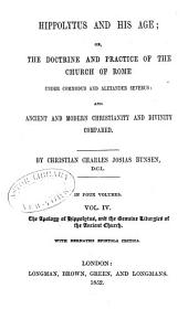 The apology of Hippolytus, and the genuine liturgies of the ancient church. With Bernaysii epistola critica