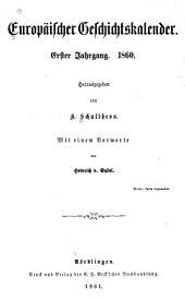 Europäischer geschichtskalender: Bände 1-3