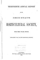 Annual Report of the Ohio State Horticultural Society PDF