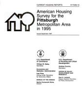 Current Housing Reports: American housing survey for the Pittsburgh metropolitan area in .... H-170, Volume 3
