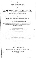 A New Abridgment of Ainsworth s Dictionary PDF