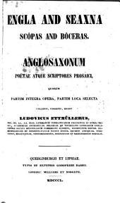 Anglosaxonum Poëtæ Atque Scriptores Prosaici Edidit Ludov. Ettmüllerus: Volume 1; Volume 28