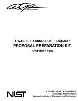 Advanced Technology Program Proposal Preparation Kit PDF